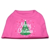 Mirage Pet Products Scribbled Merry Christmas Screenprint Shirts  Bright Pink XXL (18)