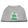 Mirage Pet Products Scribbled Merry Christmas Screenprint Shirts  Grey XXXL (20)