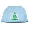 Mirage Pet Products Scribbled Merry Christmas Screenprint Shirts  Baby Blue XXL (18)