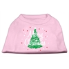 Mirage Pet Products Scribbled Merry Christmas Screenprint Shirts  Light Pink XXL (18)