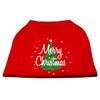 Mirage Pet Products Scribbled Merry Christmas Screenprint Shirts  Red XS (8)