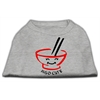 Mirage Pet Products Miso Cute Screen Print Shirts Grey XS (8)
