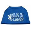 Mirage Pet Products All my Friends are Flakes Screen Print Shirt Blue XL (16)