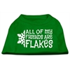 Mirage Pet Products All my Friends are Flakes Screen Print Shirt Emerald Green Med (12)