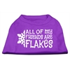 Mirage Pet Products All my friends are Flakes Screen Print Shirt Purple XXXL(20)