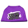 Mirage Pet Products My Kind of Gas Screen Print Shirts   Purple XXL (18)