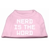 Mirage Pet Products Nerd is the Word Screen Print Shirt Light Pink XS (8)