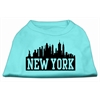 Mirage Pet Products New York Skyline Screen Print Shirt Aqua XS (8)