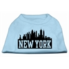 Mirage Pet Products New York Skyline Screen Print Shirt Baby Blue Sm (10)