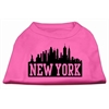 Mirage Pet Products New York Skyline Screen Print Shirt Bright Pink Lg (14)
