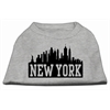 Mirage Pet Products New York Skyline Screen Print Shirt Grey XS (8)