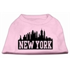 Mirage Pet Products New York Skyline Screen Print Shirt Light Pink XS (8)