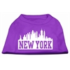 Mirage Pet Products New York Skyline Screen Print Shirt Purple XS (8)