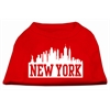 Mirage Pet Products New York Skyline Screen Print Shirt Red Lg (14)