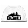 Mirage Pet Products New York Skyline Screen Print Shirt White Sm (10)