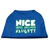 Mirage Pet Products Nice until proven Naughty Screen Print Pet Shirt Blue XXL (18)