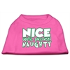 Mirage Pet Products Nice until proven Naughty Screen Print Pet Shirt Bright Pink XXXL (20)