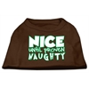 Mirage Pet Products Nice until proven Naughty Screen Print Pet Shirt Brown XXL (18)