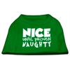 Mirage Pet Products Nice until proven Naughty Screen Print Pet Shirt Emerald Green Sm (10)
