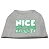 Mirage Pet Products Nice until proven Naughty Screen Print Pet Shirt Grey XXXL (20)