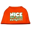 Mirage Pet Products Nice until proven Naughty Screen Print Pet Shirt Orange XL (16)