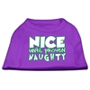 Mirage Pet Products Nice until proven Naughty Screen Print Pet Shirt Purple XL (16)