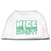 Mirage Pet Products Nice until proven Naughty Screen Print Pet Shirt White XL (16)