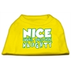 Mirage Pet Products Nice until proven Naughty Screen Print Pet Shirt Yellow XL (16)