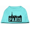 Mirage Pet Products Paris Skyline Screen Print Shirt Aqua XXL (18)