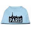Mirage Pet Products Paris Skyline Screen Print Shirt Baby Blue XS (8)