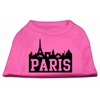 Mirage Pet Products Paris Skyline Screen Print Shirt Bright Pink XL (16)