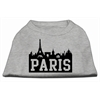 Mirage Pet Products Paris Skyline Screen Print Shirt Grey XS (8)