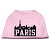 Mirage Pet Products Paris Skyline Screen Print Shirt Light Pink XS (8)