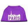 Mirage Pet Products Paris Skyline Screen Print Shirt Purple Lg (14)