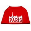 Mirage Pet Products Paris Skyline Screen Print Shirt Red XS (8)