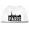 Mirage Pet Products Paris Skyline Screen Print Shirt White Sm (10)
