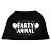 Mirage Pet Products Party Animal Screen Print Shirt Black XS (8)