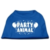 Mirage Pet Products Party Animal Screen Print Shirt Blue Lg (14)