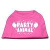 Mirage Pet Products Party Animal Screen Print Shirt Bright Pink XL (16)