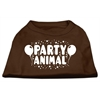 Mirage Pet Products Party Animal Screen Print Shirt Brown Lg (14)