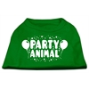 Mirage Pet Products Party Animal Screen Print Shirt Emerald Green XS (8)