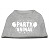Mirage Pet Products Party Animal Screen Print Shirt Grey Lg (14)