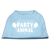 Mirage Pet Products Party Animal Screen Print Shirt Baby Blue Med (12)