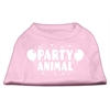 Mirage Pet Products Party Animal Screen Print Shirt Light Pink XS (8)