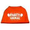 Mirage Pet Products Party Animal Screen Print Shirt Orange Sm (10)