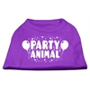 Mirage Pet Products Party Animal Screen Print Shirt Purple XS (8)