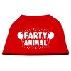 Mirage Pet Products Party Animal Screen Print Shirt Red XXXL (20)