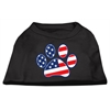 Mirage Pet Products Patriotic Paw Screen Print Shirts Black XS (8)