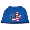 Mirage Pet Products Patriotic Paw Screen Print Shirts Blue XXXL (20)
