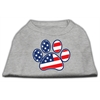Mirage Pet Products Patriotic Paw Screen Print Shirts Grey XXXL(20)